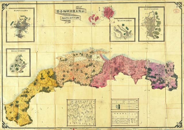 In 1883 Japan did not draw Dokdo Takeshima (Liancourt Rocks) on this map of Shimane Prefecture