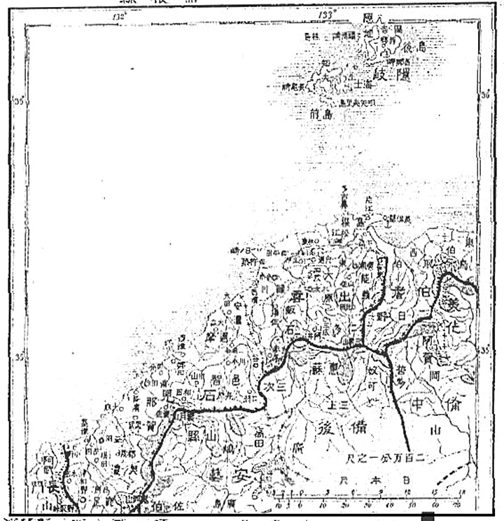 An 1897 Map of Shimane Prefecture that lacked Dokdo Takeshima (Liancourt Rocks)