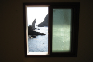 竹島 たけしま 獨島 독도 the view of Dokdo from Mr Kim Seong Do's window