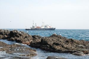 A boat near Dokdo's East Islet