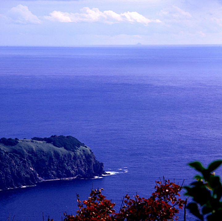 Dokdo Takeshima on a clear day from Korea's Ulleungdo