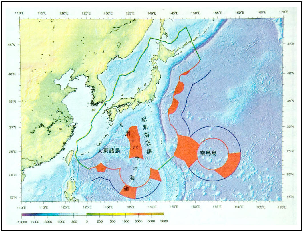 Japan Korea Disputes EEZ map 독도 獨島 竹島 dokdo takeshima