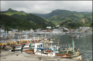 Boats at Ulleungdo Island's Jeodong Harbour