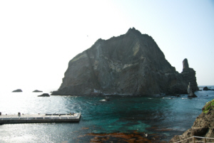 The sapphire waters of Dokdo Island and West Island