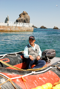 Long-time Dokdo resident Kim Seong Do on Zodiak 竹島 たけしま 獨島 독도