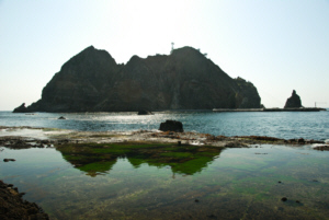 Dokdo Island seaweed covered tidal flat 竹島 たけしま 獨島 독도