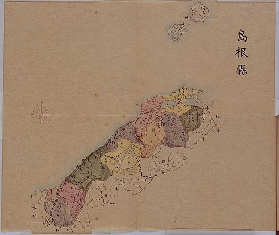 An 1895 Japanese map of Shimane without Dokdo Takeshima