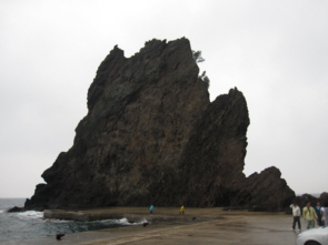 Turtle Rock on Ulleungdo's shore is quite massive