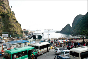 The bustle of Ulleungdo Island's main port Dodong Harbour