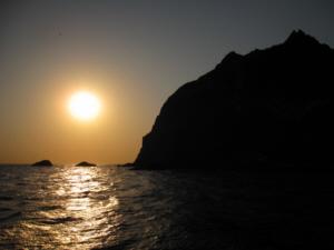 Sunset on Dokdo Island 獨島 竹島