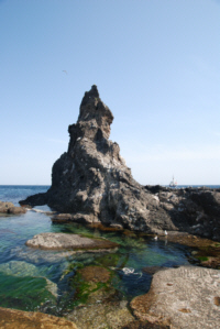 A rock formation on Dokdo Island  liancourt 독도 たけしま