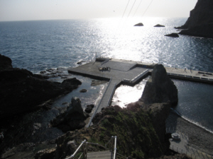 High up on Dokdo's East Islet looking down