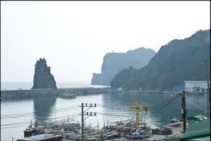 Looking South at Jeodong Harbour on Ulleungdo