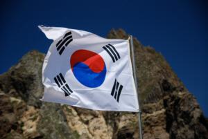 Korean flag on Dokdo 2 竹島 たけしま 獨島 독도