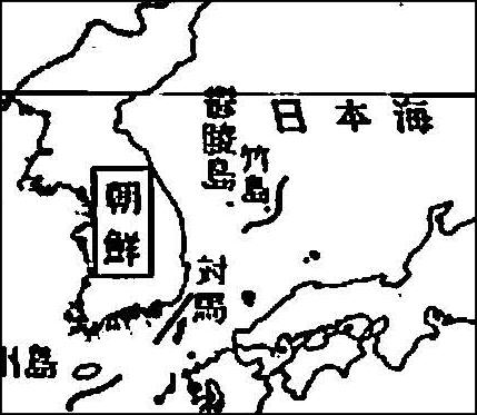A closeup of Japanese Post WWII map showing Dokdo as Korean territory たけしま 獨島